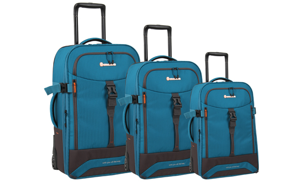 Casual Luggage Set With Helmet Carry System