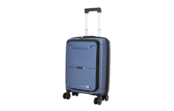8 Wheel PP Trolley Case Cabin Size With big front pocket